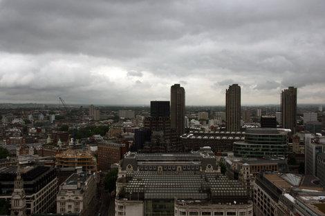 вид на Лондон с купола Собора Святого Павла