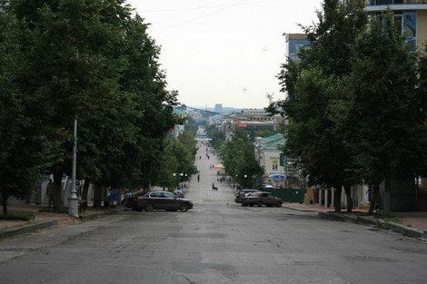 Вид на Московскую улицу сверху.