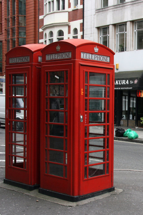 знаменитые лондонские телефонные будки