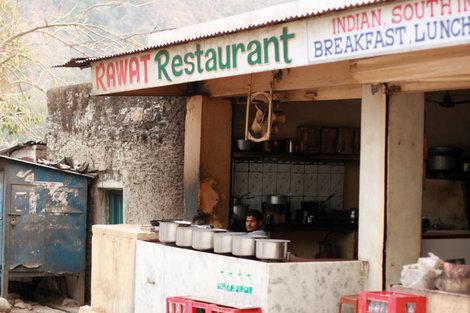 Ришикеш, ресторан для местных