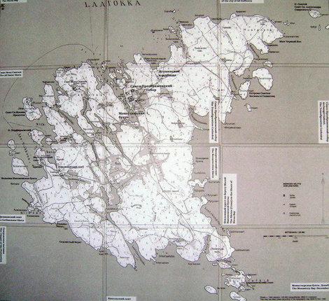 Редкая карта Валаама, изданная в Финляндии в 1941 году.