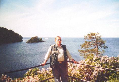Вид на Ладожское озеро от Никольского скита