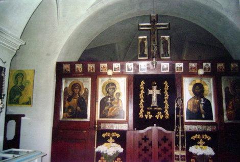 Скит Всех Святых. Внутреннее убранство Всехсвятской церкви