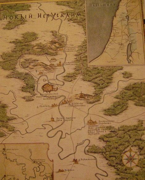 Карта Нового Иерусалима с привязкой к христианской Палестине