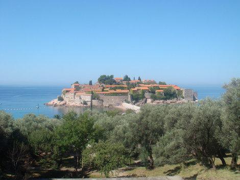 Вид на город-отель Святой Стефан