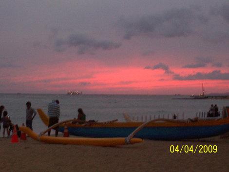 Закат в Гонолулу
