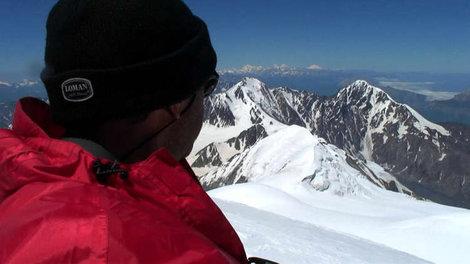 Вид с вершины г.Казбек (5047м.)