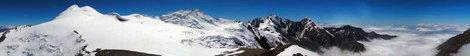 Панорама Казбекско-Джимарайского района с вершины пика ОЖД (Орджоникидзевской Железной Дороги)