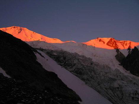 Рассвет на вершине Майлихох (4600м.)