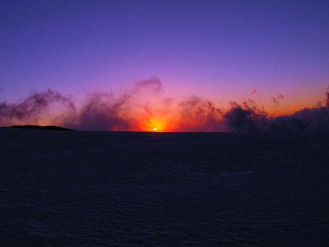Восход на Майлинском плато