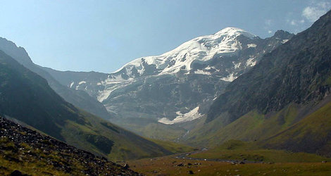 Ущелье Цата, Шаухох, вид с севера