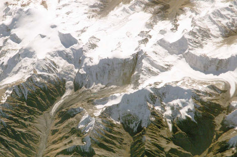 Вид на Казбекско-Джимарайский район из космоса (фото NASA)