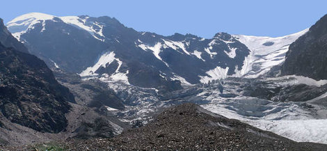 Ледник Зайгелан и вершина Шаухох (слева)