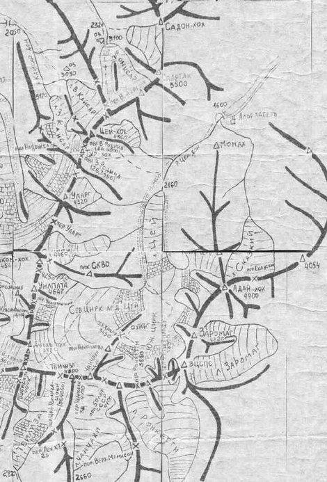 Схема Цейского ущелья