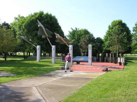 В Мемориальном парке славы.