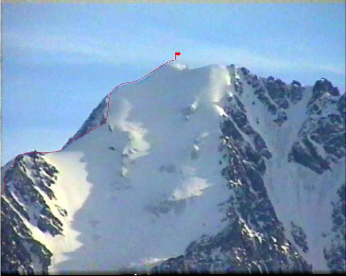 Вершинная часть горы, вид с востока
