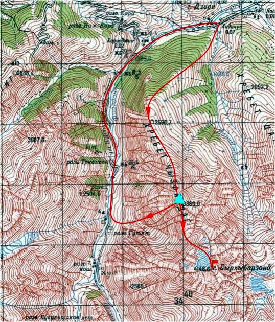 Схема района