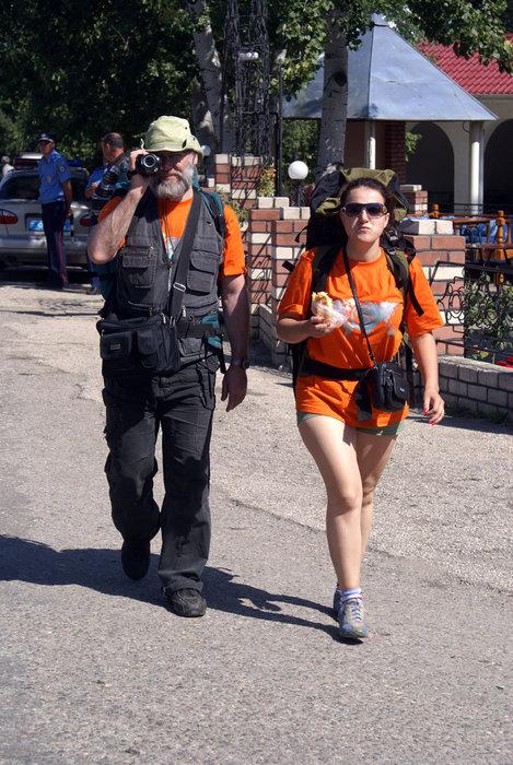 Владимир Иванов и Наталья Барабаш на пути в Большой каньон