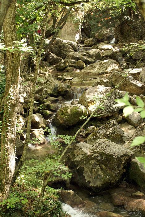Камни и река в Большом каньоне