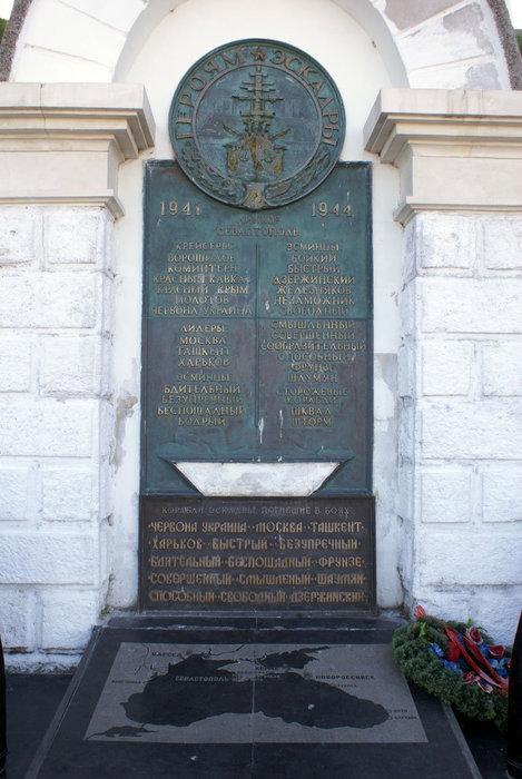 Памятник матросам, погибшим во время Великой Отечественнной войны
