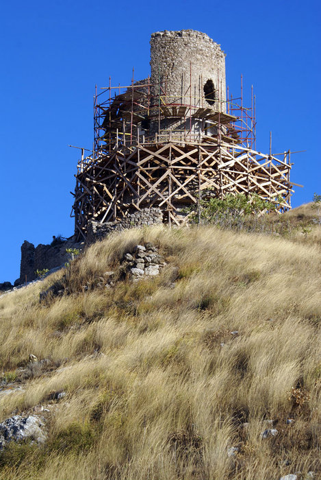 Реставрация башни в Балаклаве