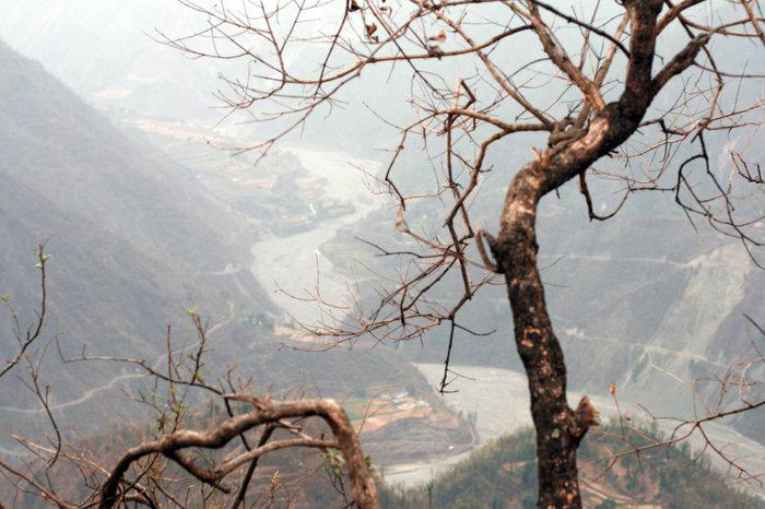 вид на русло Ганги Халдвани, Индия