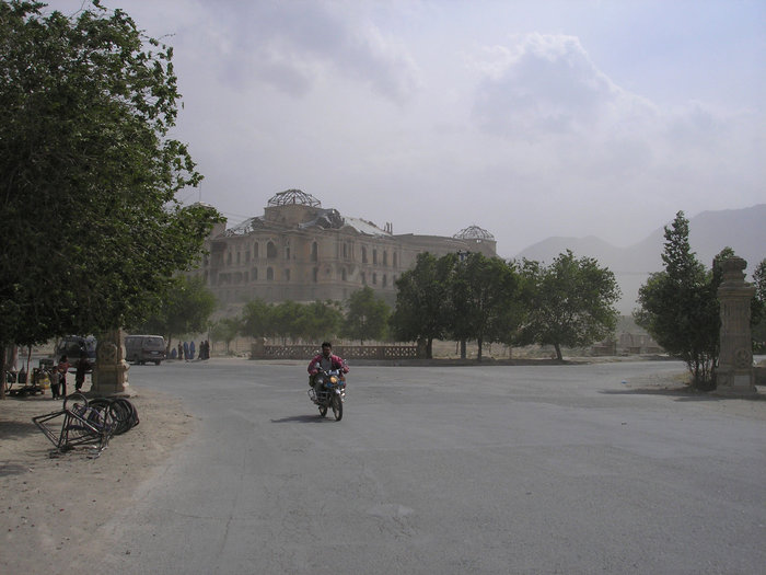 Вид на дворец Амина, который штурмом брала группа