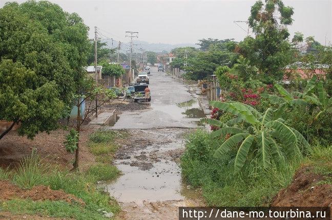 Окраина города сразу после дождя