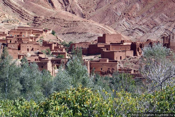 Марокканская деревня в горах