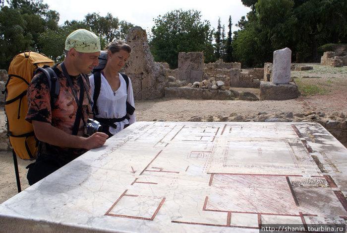 План-схема римских вилл в