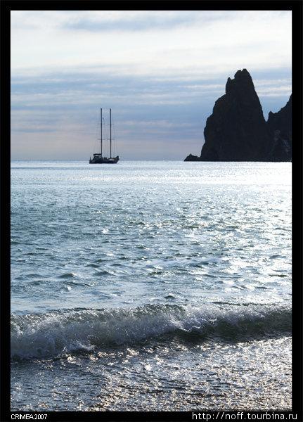 Море в районе мыса Фиолент