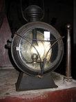 Старинный паровозный фонарь