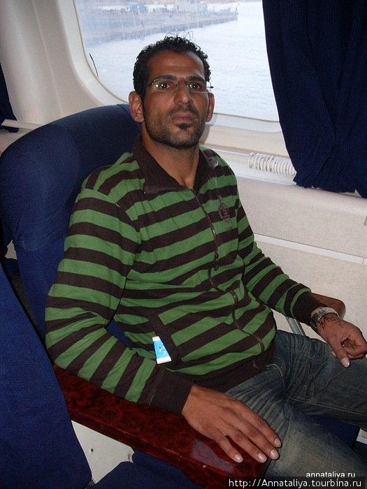 Цивильный иорданец, встреченный нами на пароме из Нувейбы в Акабу