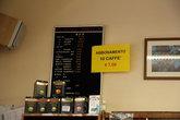 в кафе можно приобрести абонементы на кофе