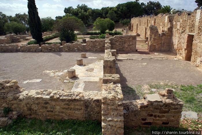 Руины римских вилл в Карфагене