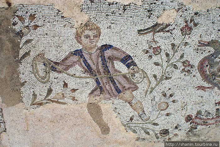 Фрагмент мозаики на полу римской виллы в Карфагене