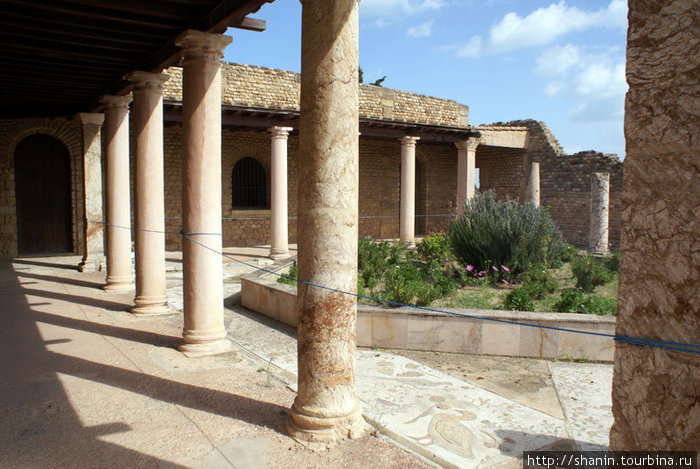 Во дворе римской виллы на руинах Карфагена