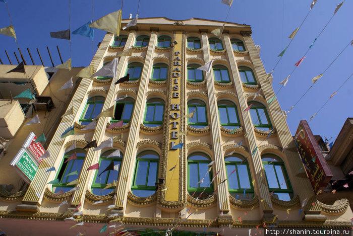 Гостиница Paradise в Асуане на пешеходной улочке в центре
