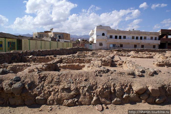 Руины набатейского порта в Дахабе