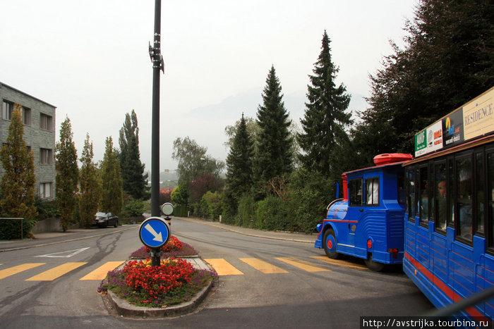 экскурсия по княжеству Лихтенштейн на туристическом паровозике