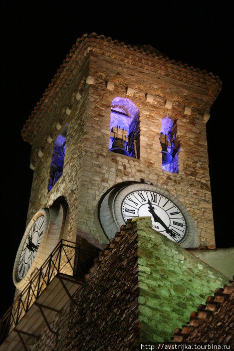 башня Сюке вечером