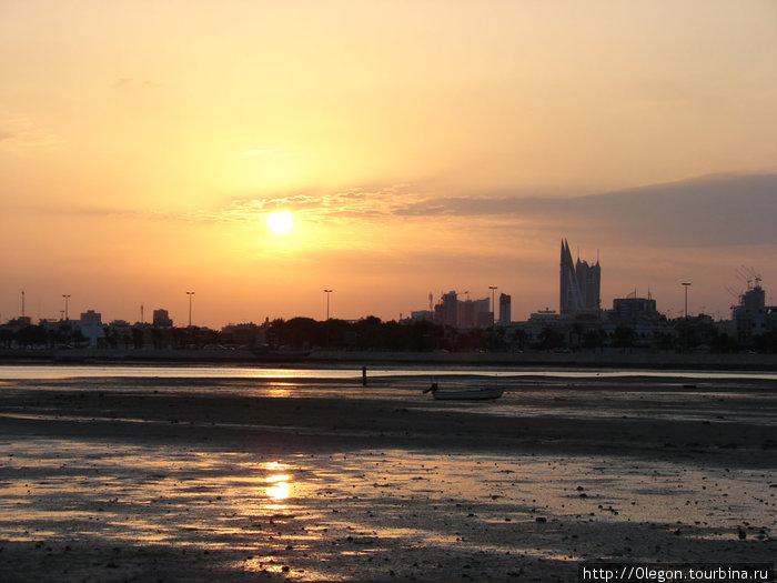 Закат над Манамой