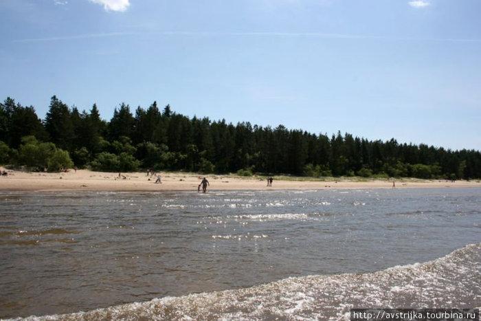 пляж в Нарва-Йыессу