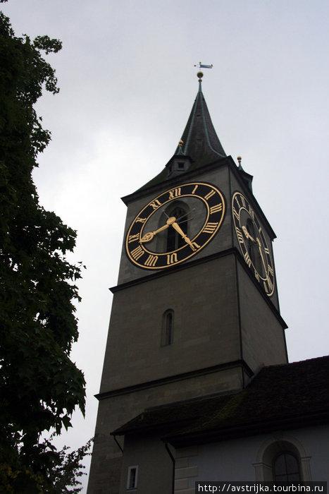 часы на церкви Святого Петра в Цюрихе