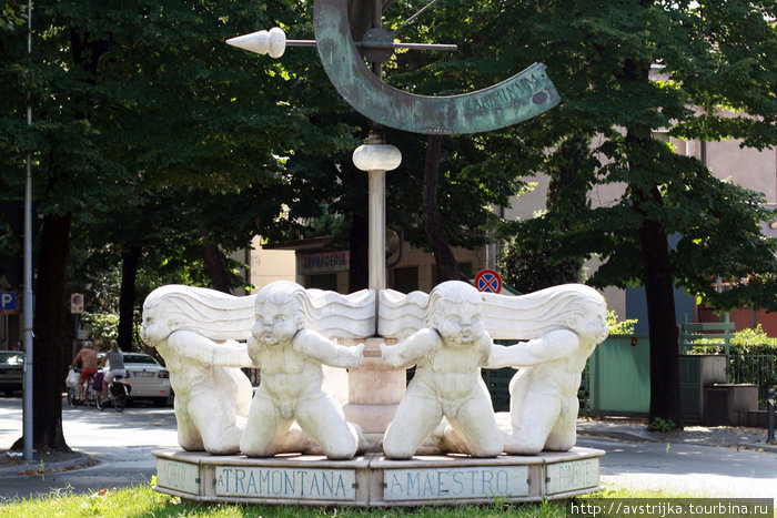 скульптурная композиция в Римини
