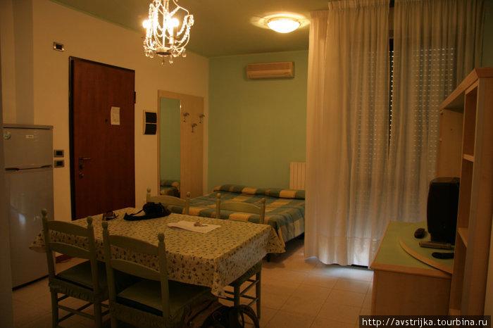гостиная в апартаментах Residence Viale Venezia