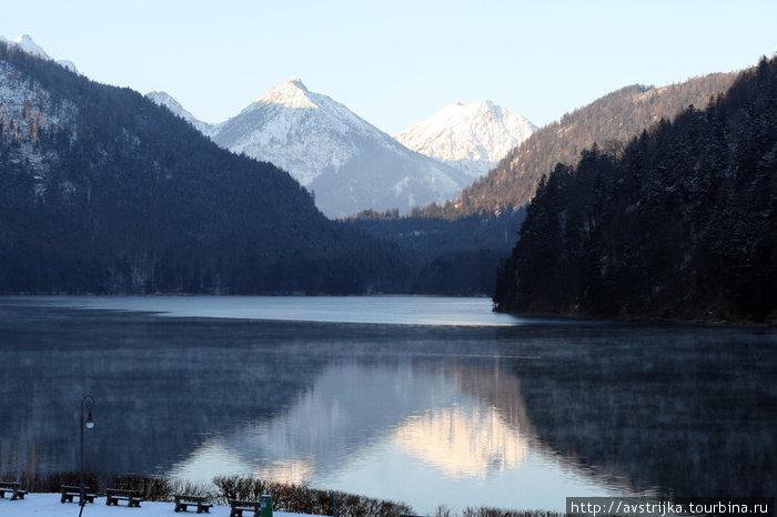 озеро Шванзее в Баварии