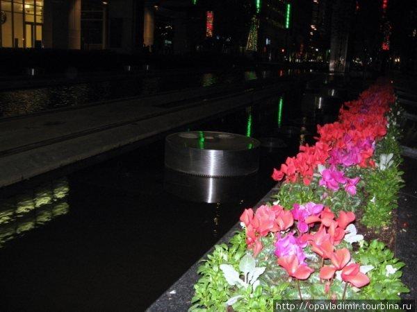 Цветы в память погибших моряков-техассцев