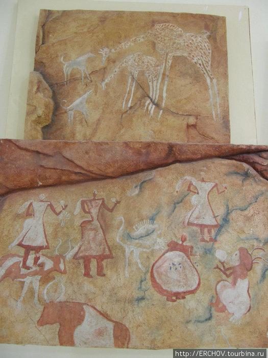 Наскальные рисунки в музее г. Джерма