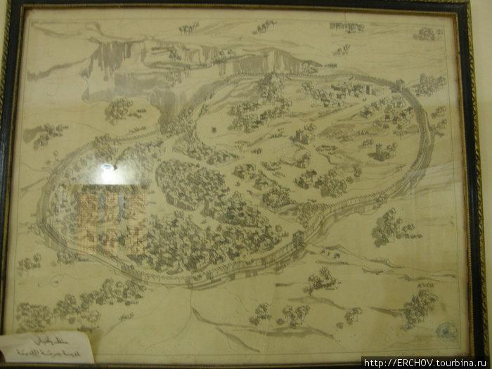 План арабского города в музее г. Джерма.